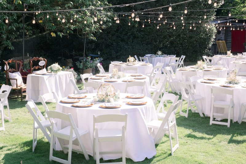 gold and sage wedding reception decorations