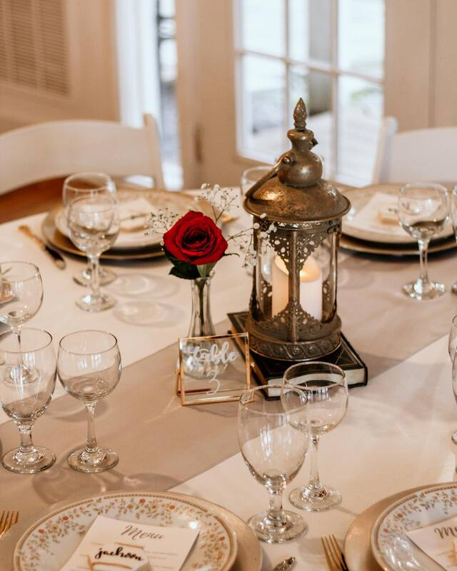 beauty and the best themed tasting table decorations with antique centerpiece