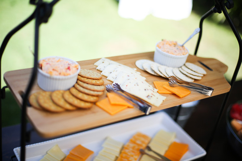 cheese and crackers appetizers baby shower