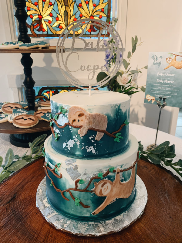 Sloth-themed baby shower for boy