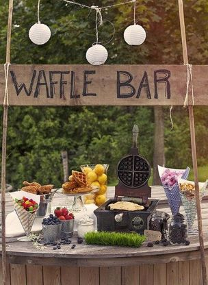 make your own waffle bar