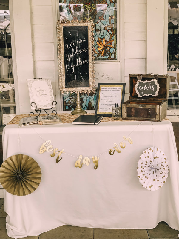 guestbook table anniversary party