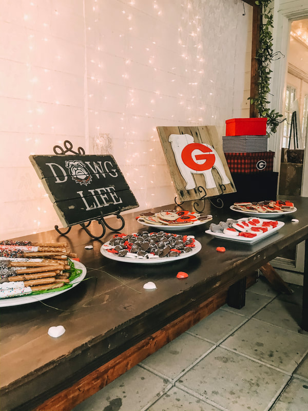dawg life uga themed dessert bar