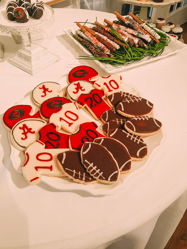 football inspired custom cookies