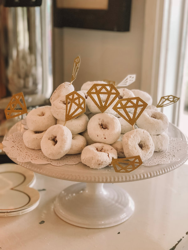 Mini donuts for bridesmaids bruncheon
