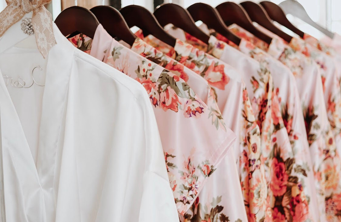 bride's and bridesmaid's getting-ready robes