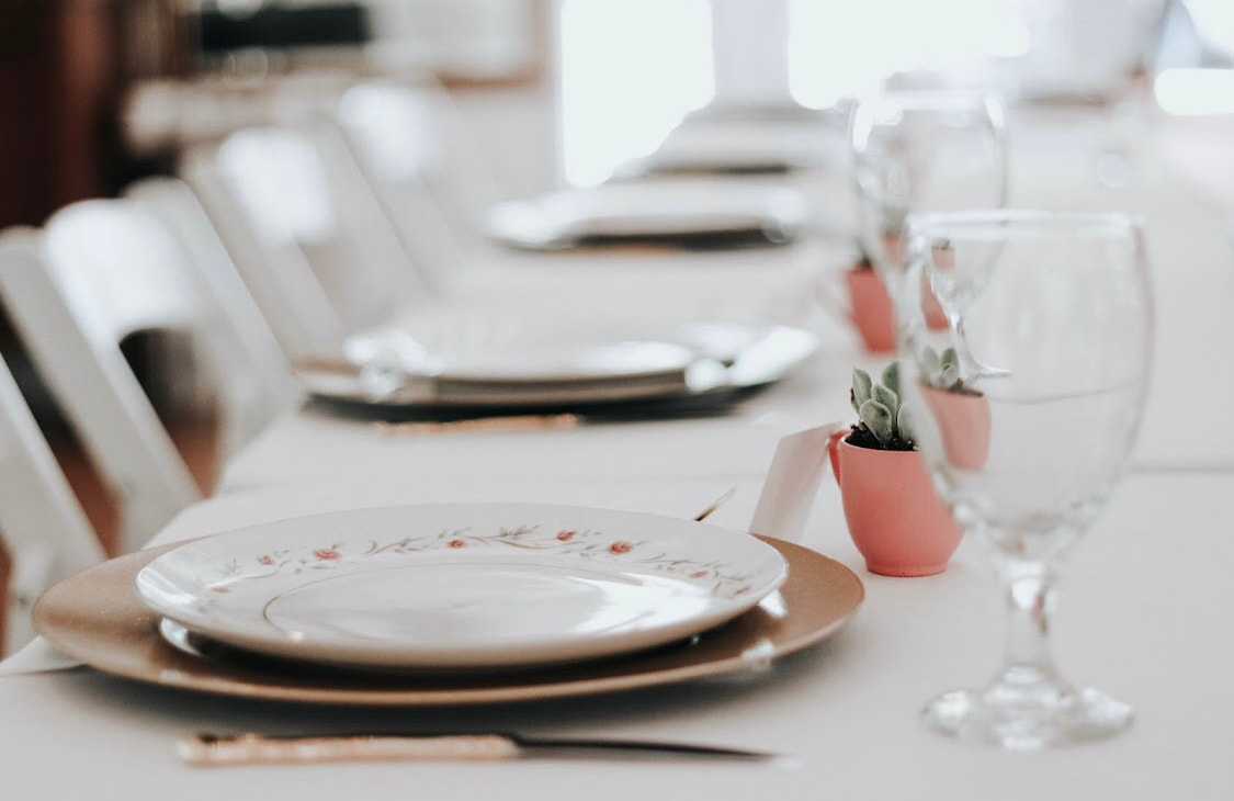 Pink and champagne bridal luncheon idea