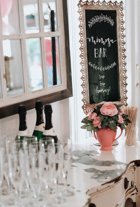 Bridesmaids luncheon mimosa bar