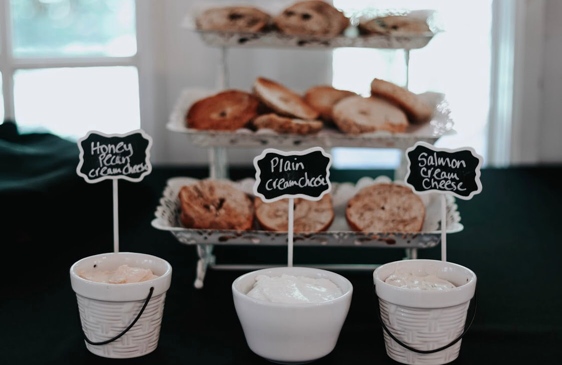 Bagel and cream cheese bar luncheon ideas