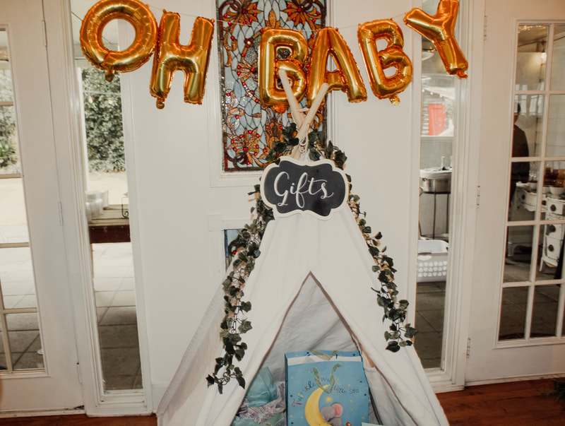 oh baby gift tent baby shower idea