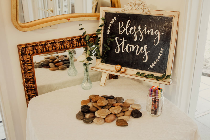 blessing stones DIY idea baby shower