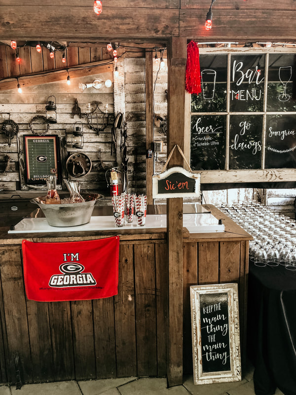 University of Georgia graduation party drink station
