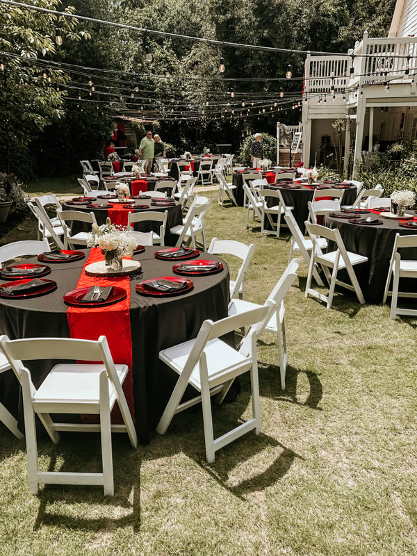 UGA themed graduation party