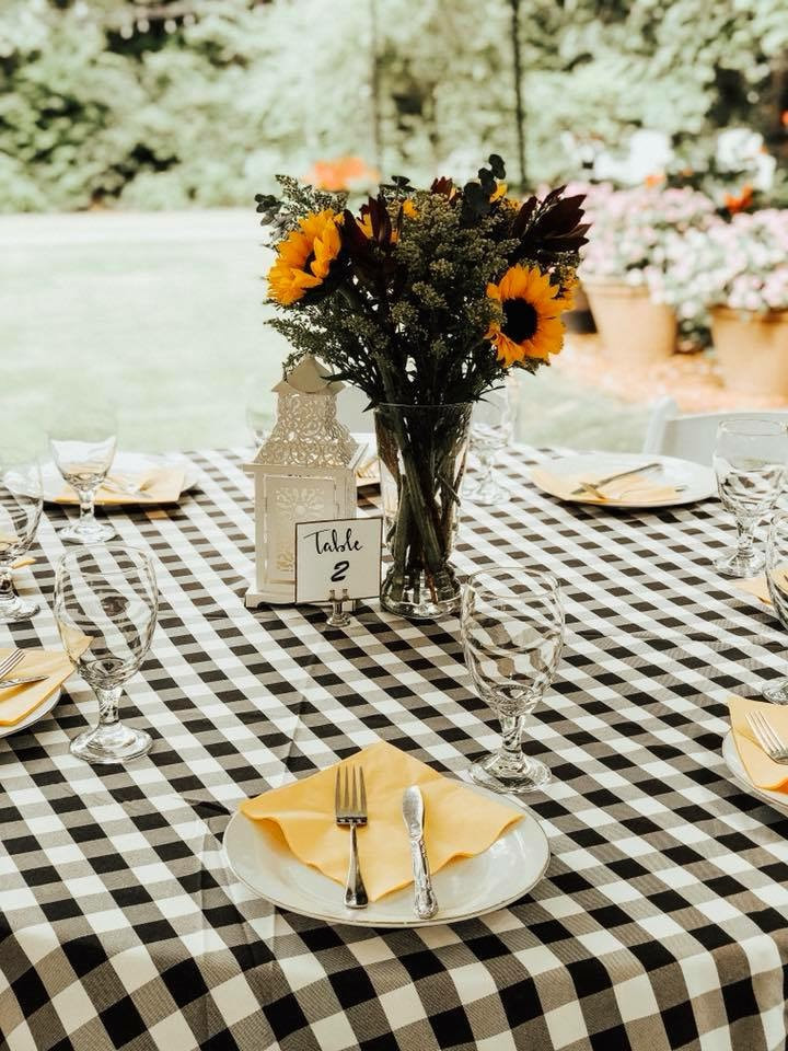 Summer inspired baby shower table decor