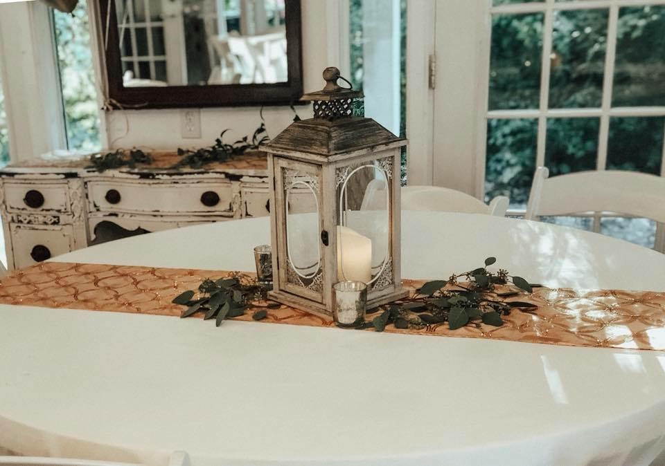 rustic anniversary party table decor
