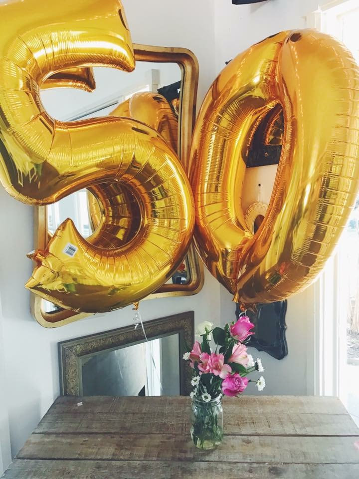 giant gold 50 5-0 balloons