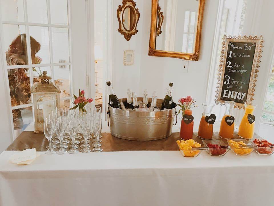 mimosa bar setup inspiration