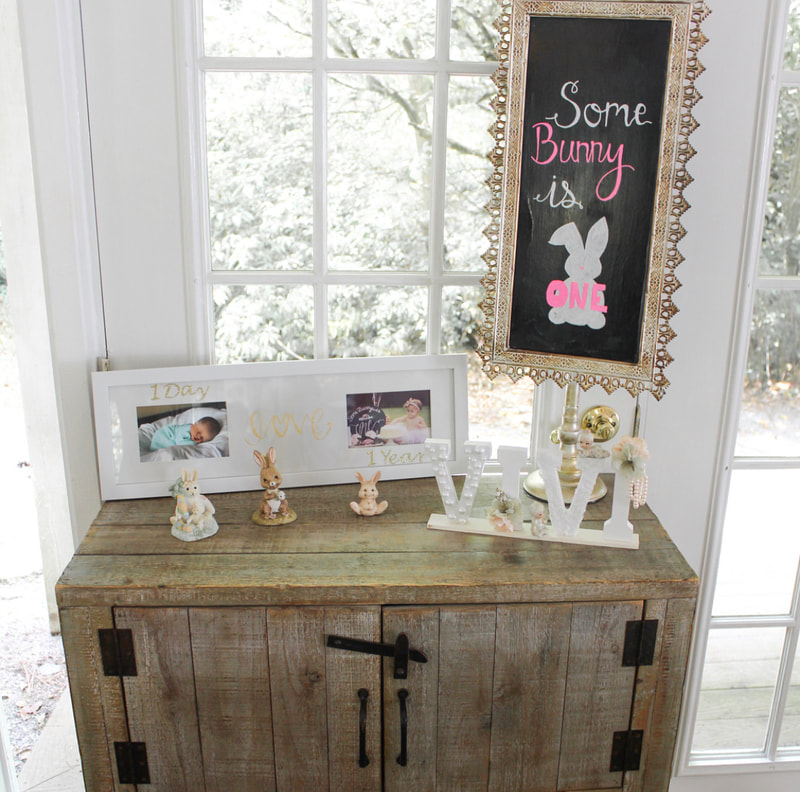 bunny themed first birthday party
