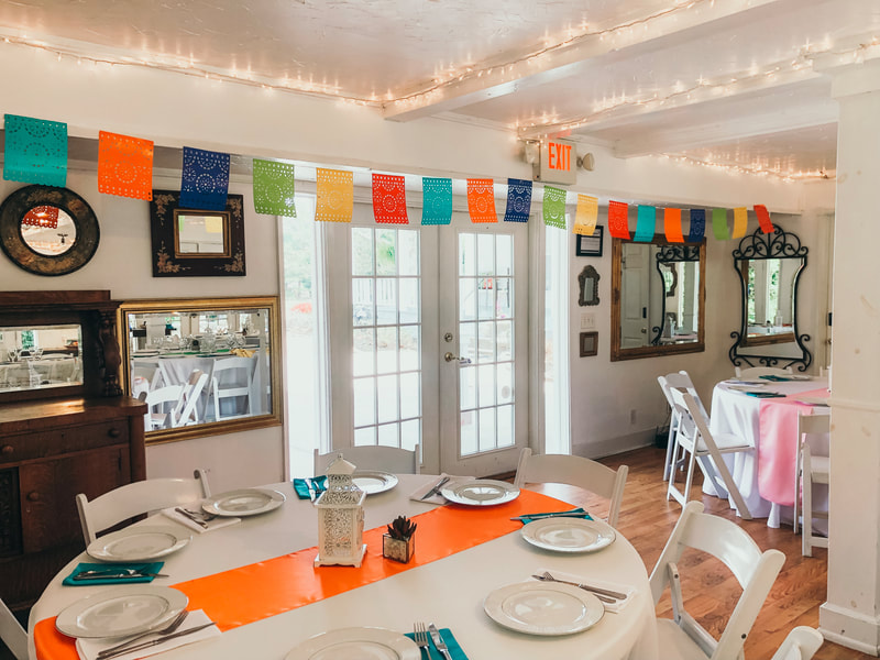 Fiesta themed party setup