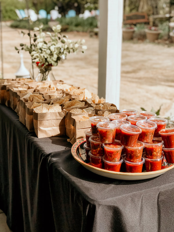 Togo chips and salsa party favors