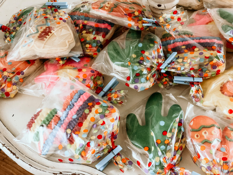 individually wrapped custom fiesta cookies