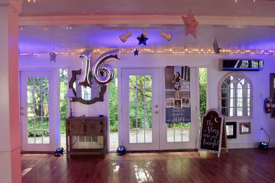 sweet 16 star and moon birthday decorations